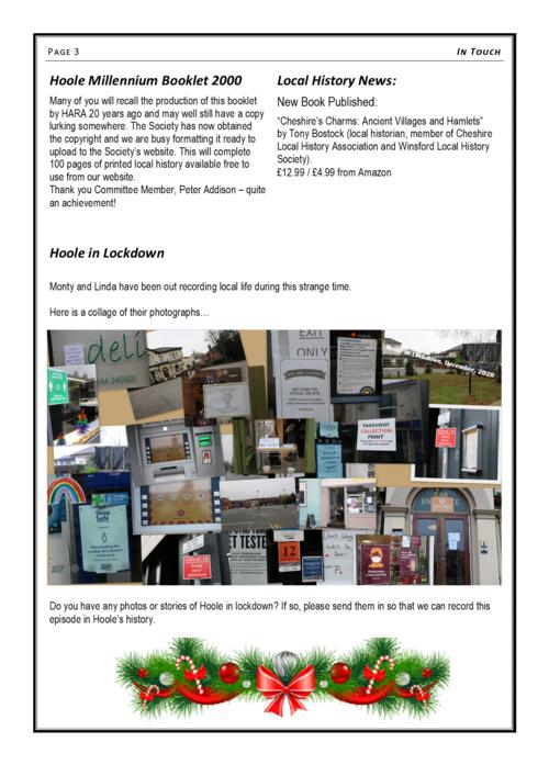 'In Touch' Newsletter Dec 2020 P3